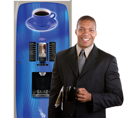 We have both cold and hot beverage vending machines.