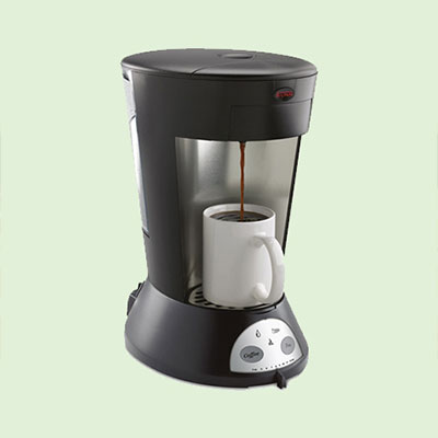 A drip coffee machine, perfect for a single cup of coffee