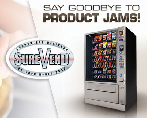 SureVend technology guarantees your product is delivered.