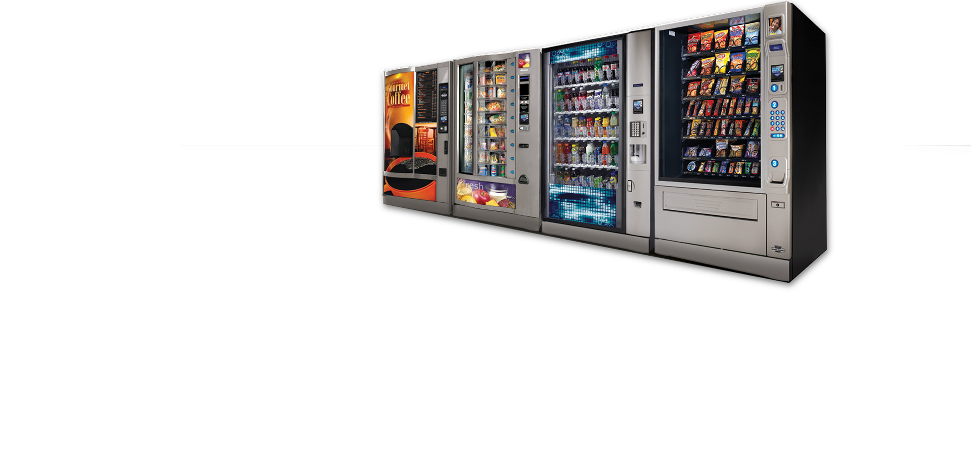 Snack and soda vending machines