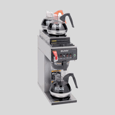 Three burner coffee brewers are the ultimate in convenience and quantity.