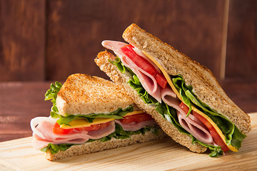 A fresh sandwich from our fresh food vending machines